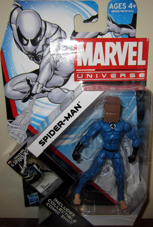 Spider-Man Marvel Universe 014 Future Foundation paper bag head action figure