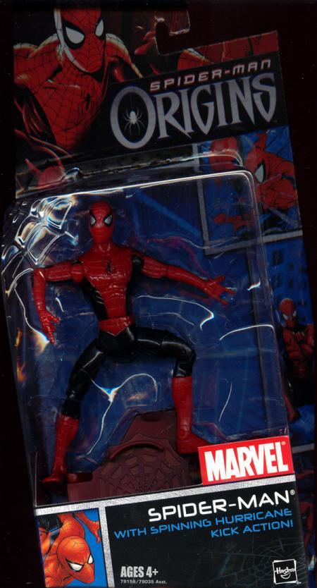 Spider-Man spinning hurricane kick action, Origins