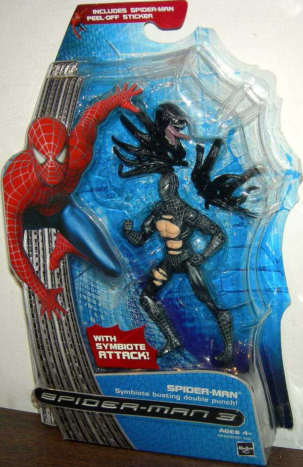 Spider-Man Symbiote Busting Double Punch action figure