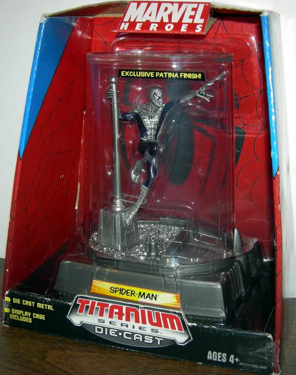 Spider-Man, Titanium Series Die-Cast exclusive patina finish