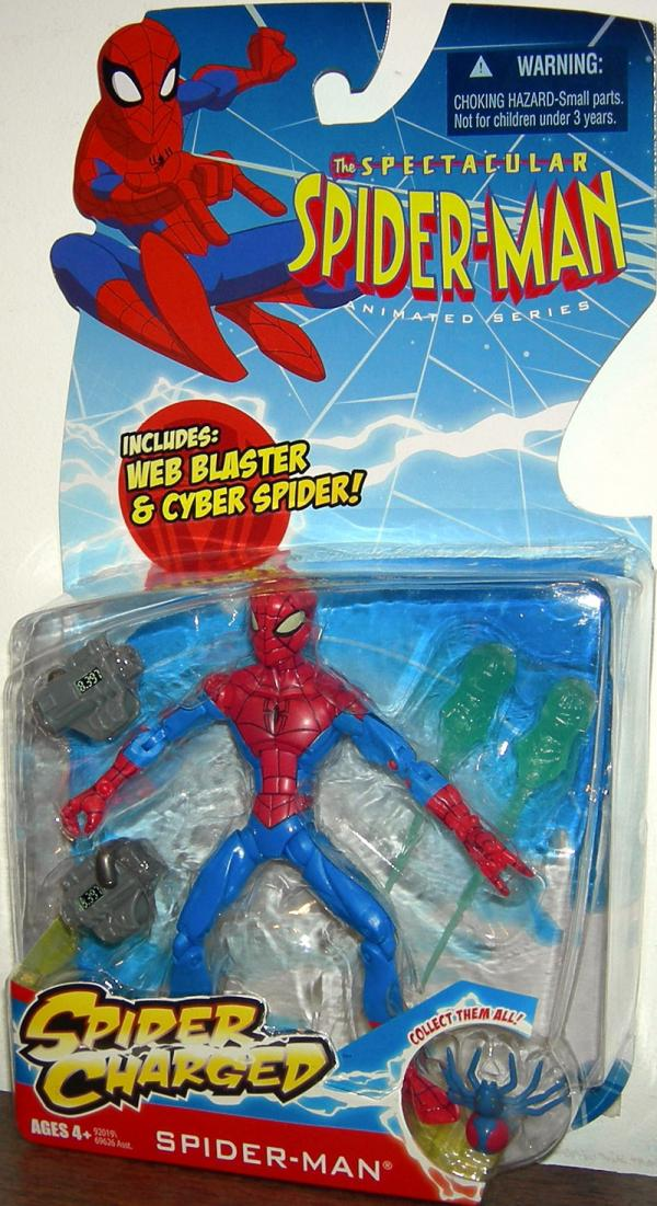 Spider-Man Web Blaster Cyber Spider Charged Action Figure