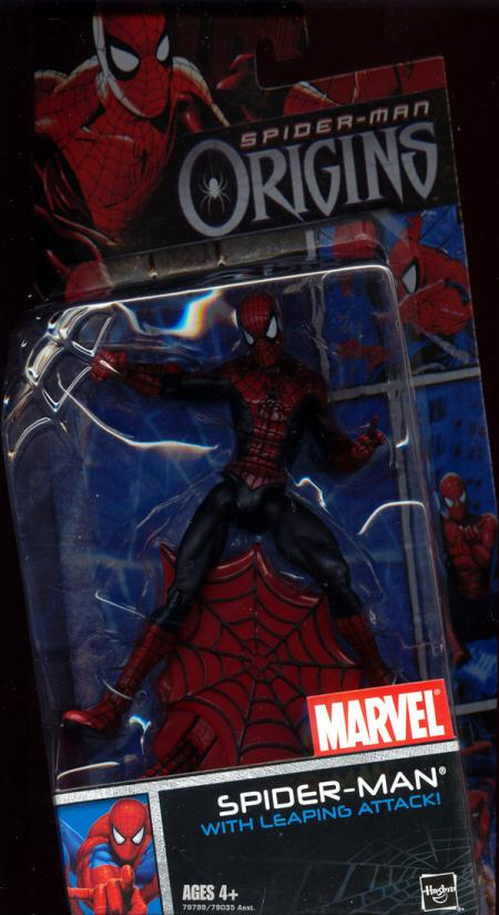 Spider-Man leaping attack Spider-Man Origins action figure