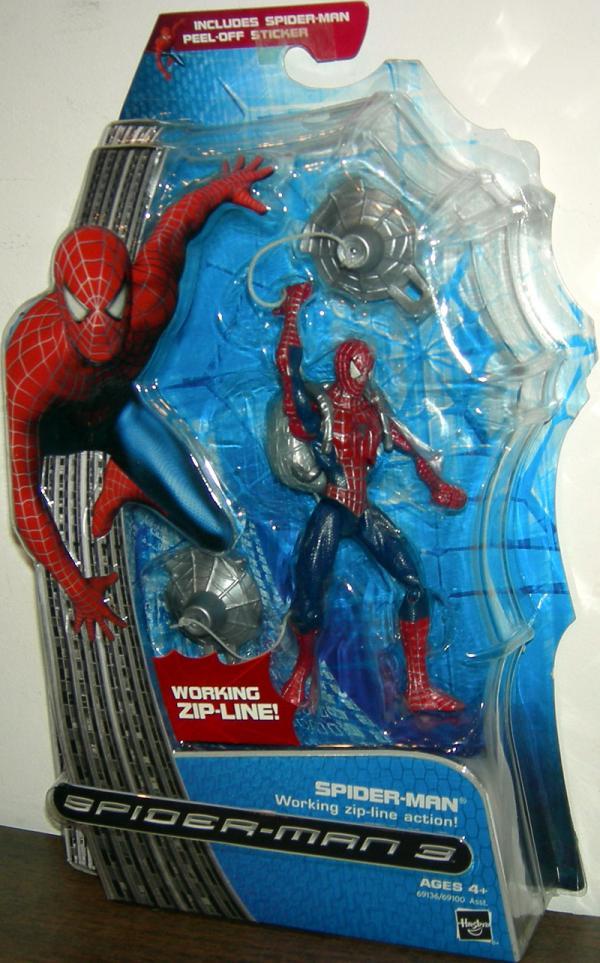Spider-Man 3 Movie Working Zip-Line Action Figure Hasbro