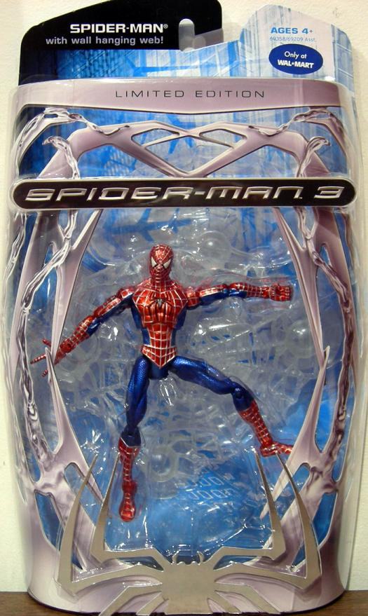 Spider-Man Action Figure with Wall Hanging Web Limited Edition