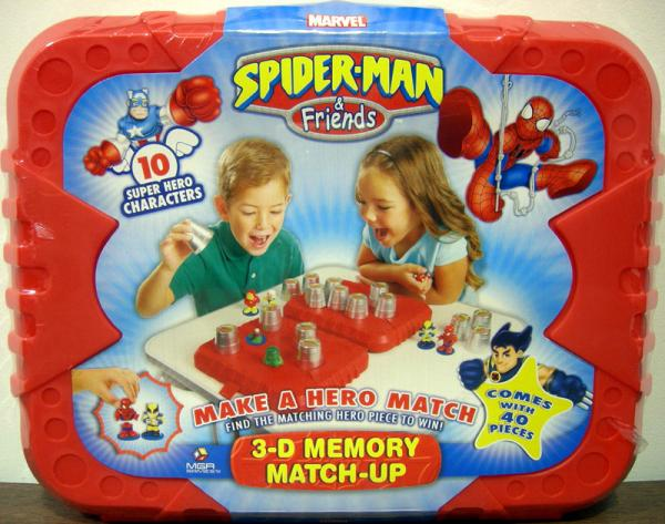 Spider-Man Friends 3-D Memory Match-Up MGA