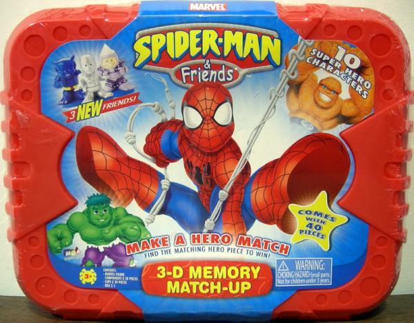 Spider-Man Friends 3-D Memory Match-Up 3 New Friends