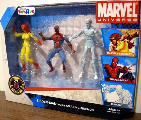 Spider-Man his Amazing Friends 3-Pack Marvel Universe action figures