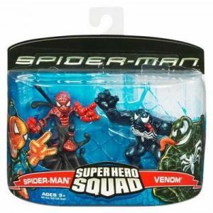 Spider-Man Venom Figures Super Hero Squad Hasbro