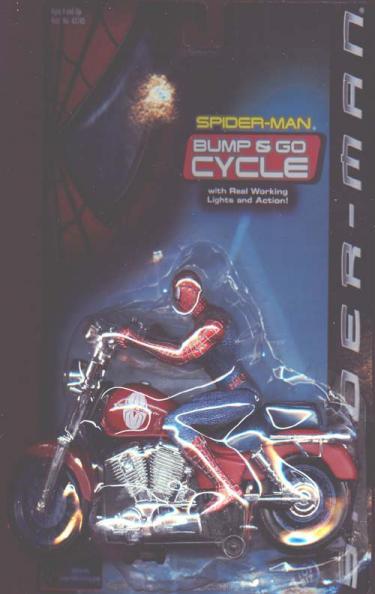 Spider-Man Bump Go Cycle movie, vintage