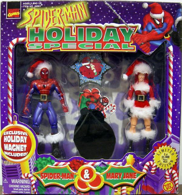 Spider-Man Mary Jane Action Figures Holiday Special Toy Biz