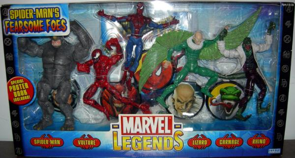 Spider-Mans Fearsome Foes 5-Pack Marvel Legends action figures