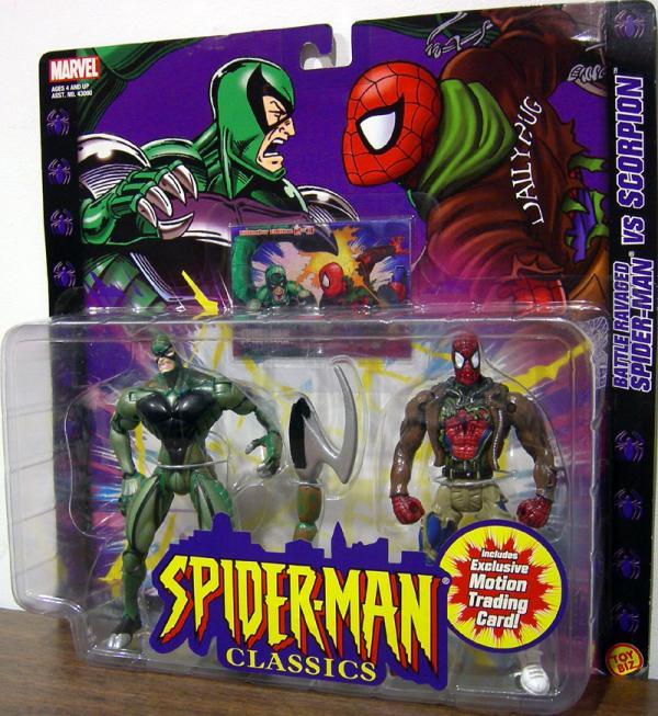 Battle Ravaged Spider-Man vs Scorpion Classic