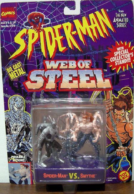 Spider-Man vs Smythe Web Steel action figures