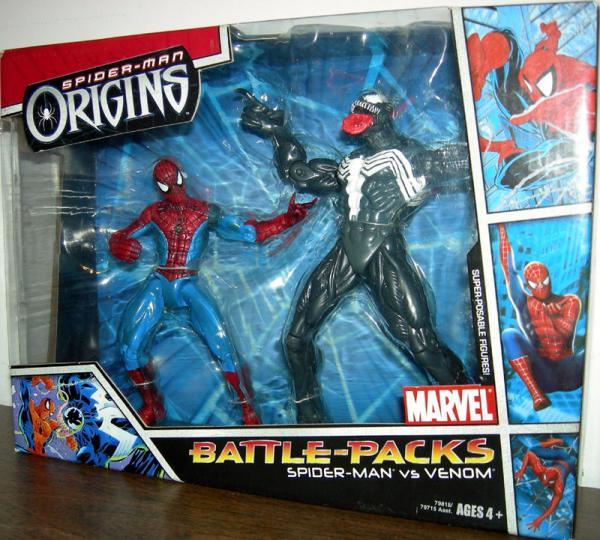 Spider-Man vs Venom Origins Battle-Packs action figures