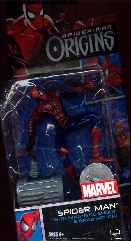 Spider-Man magnetic shoot grab action Spider-Man Origins