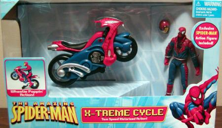 Spider-Man Action Figure with X-Treme Cycle Vehicle Toy Biz
