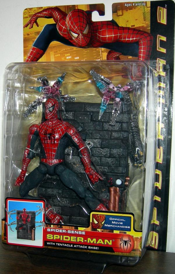 Spider-Sense Spider-Man Action Figure with Tentacle Attack Base