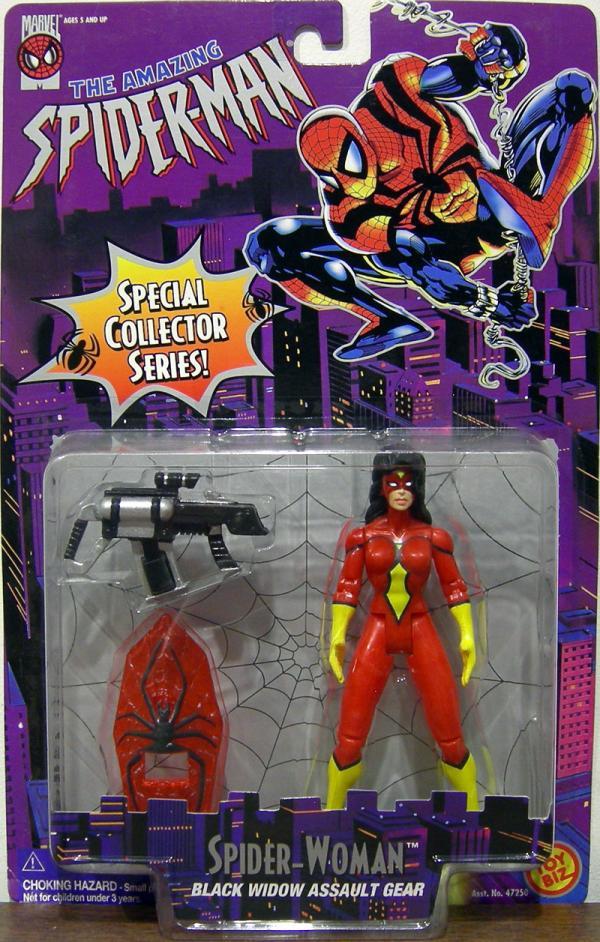 Spider-Woman Figure Black Widow Assault Gear Amazing Spider-Man