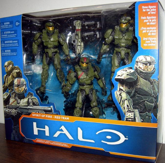 Spirit of Fire Red Team Halo Action Figures Anniversary Series 2