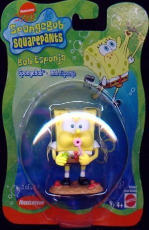SpongeBob blowing bubbles