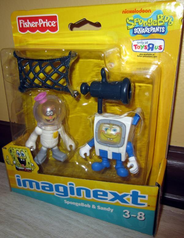 SpongeBob Sandy Figures Imaginext Toys R Us Exclusive