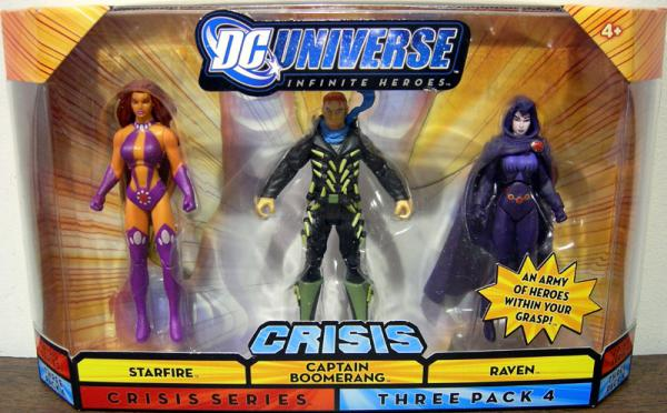 Starfire Captain Boomerang Raven Figures Crisis Series 4