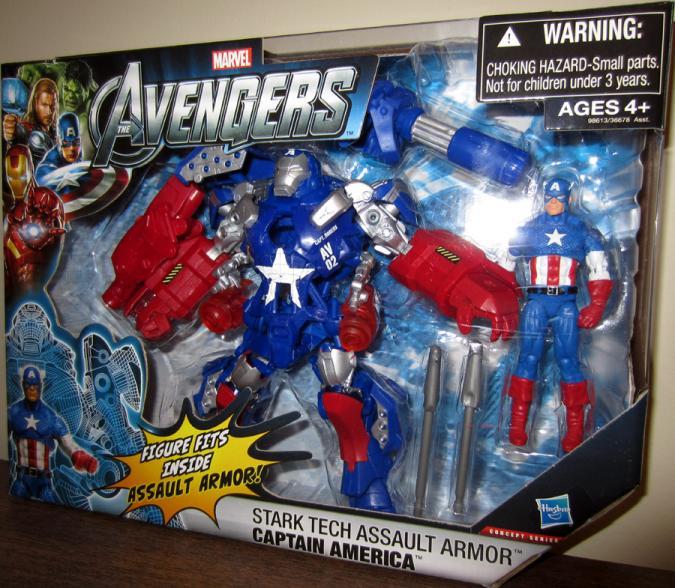Stark Tech Assault Armor Captain America Action Figure