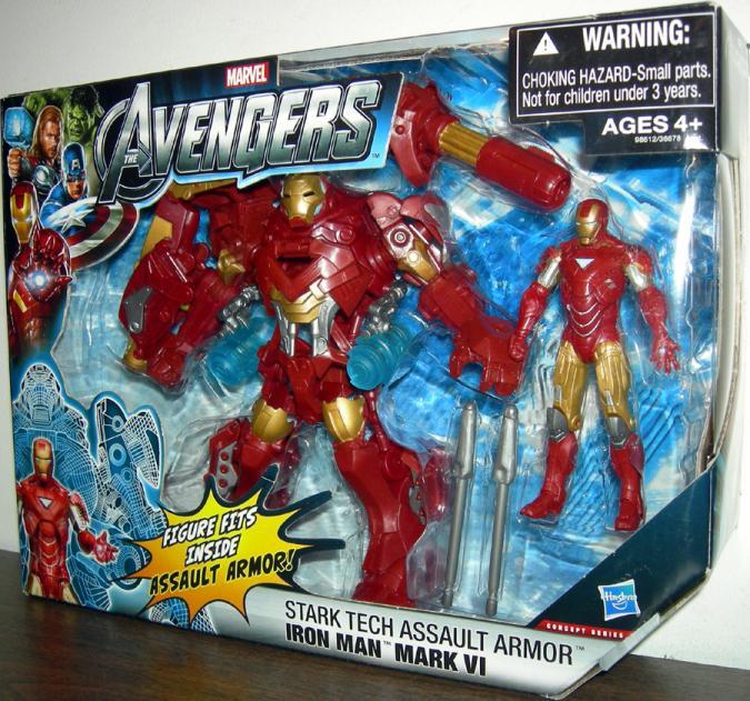 Stark Tech Assault Armor Iron Man Mark VI Action Figure Avengers