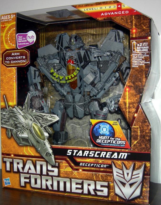 Starscream Leader Class Action Figure 2009 Transformers Hasbro