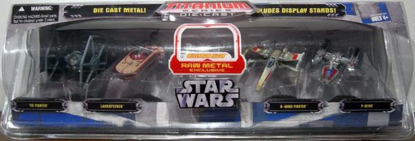 Star Wars Titanium Series Die-Cast 5-Pack raw Millennium Falcon