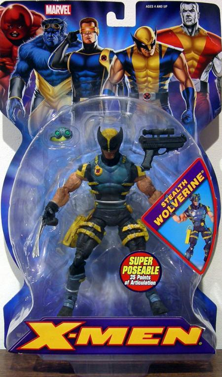 Stealth Wolverine Figure Super Poseable X-Men
