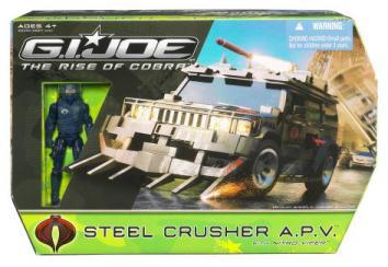 Steel Crusher APV with Nitro-Viper Action Figure Rise Cobra