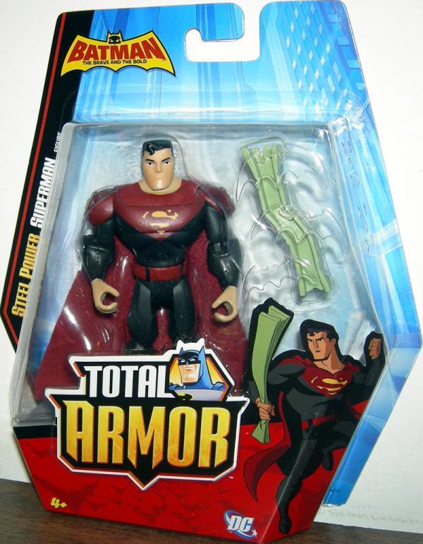 Steel Power Superman Total Armor Batman action figure