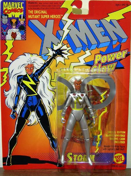 Storm Power Glow Silver X-Men action figure