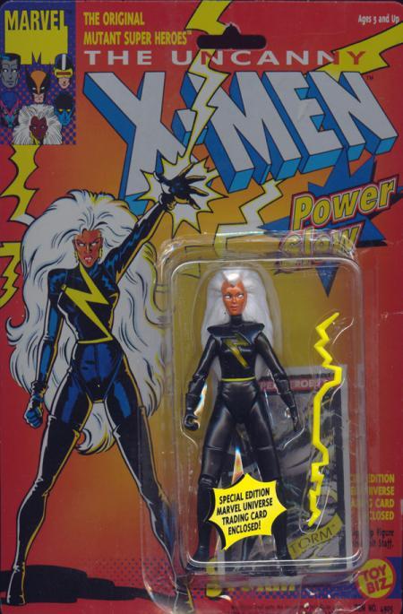 Storm Black Costume Power Glow X-Men action figure