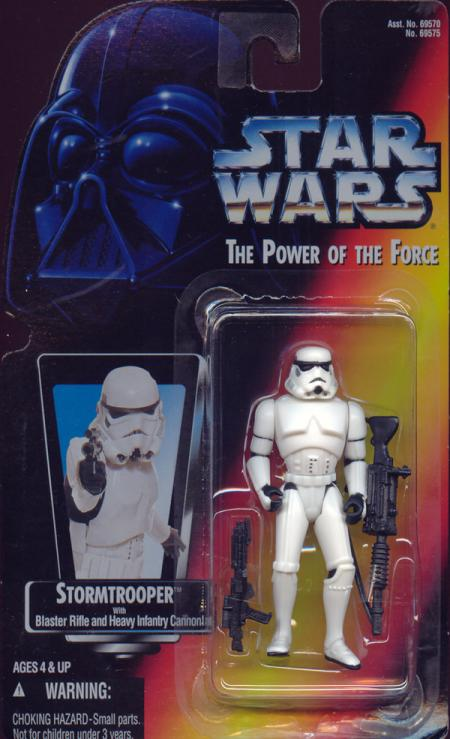 Stormtrooper Figure Star Wars Power Force Orange Card