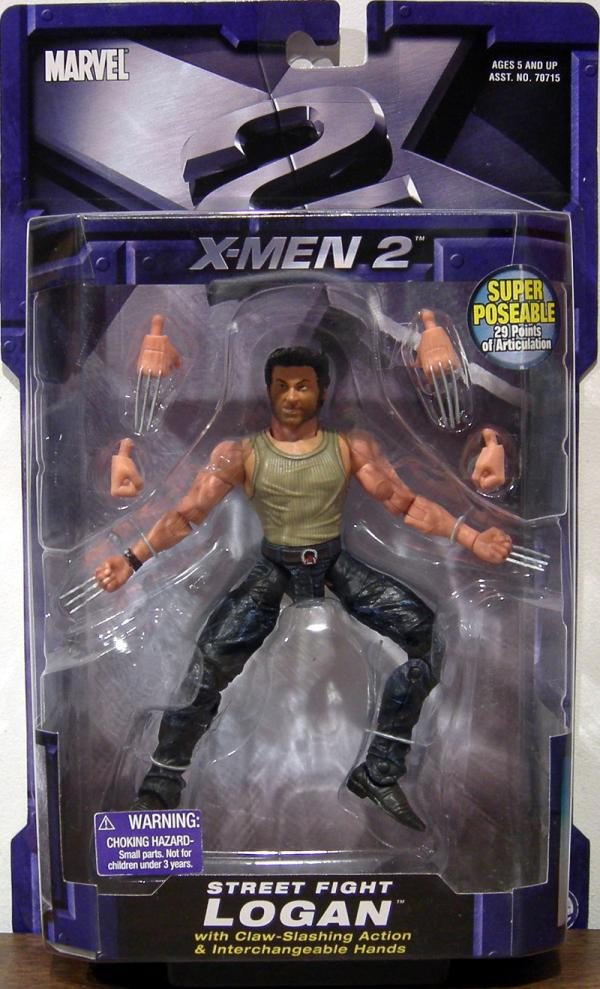 Street Fight Logan X-Men 2 Movie action figure