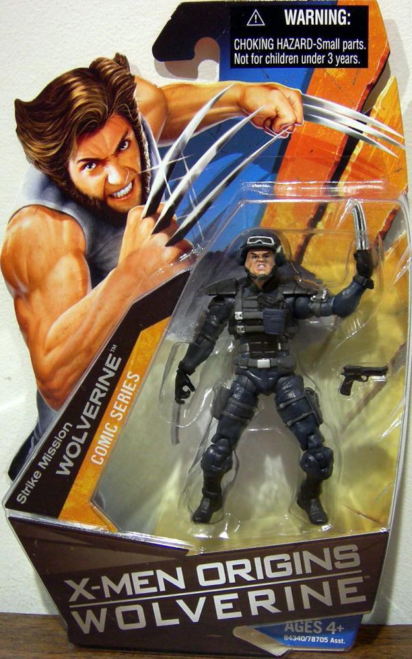Strike Mission Wolverine Action Figure X-Men Origins Comic Series