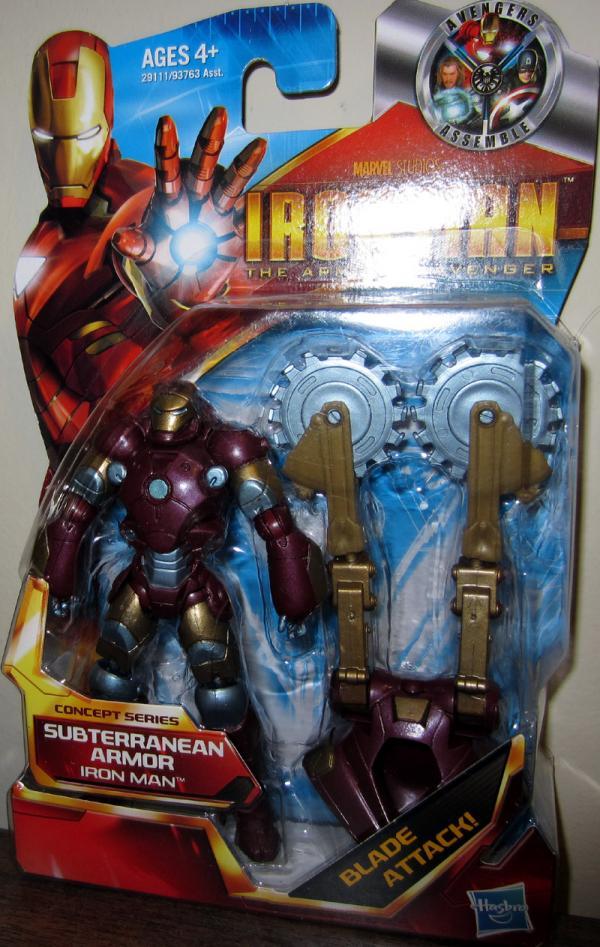 Iron Man Subterranean Armor Action Figure Armored Avenger Concept Series 05