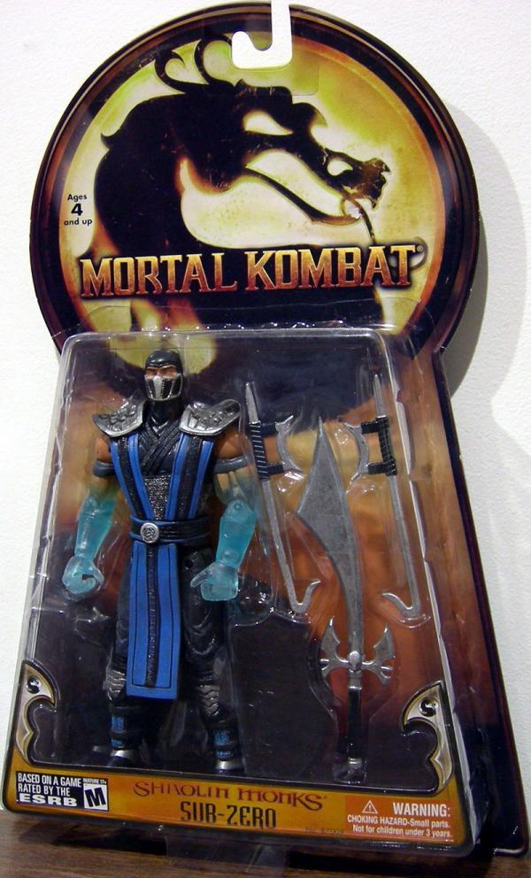 Sub-Zero Action Figure Shaolin Monks Mortal Kombat Jazwares