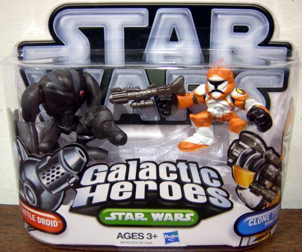 Super Battle Droid Clone Trooper Bomb Squad Figures Galactic Heroes