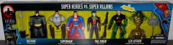Super Heroes vs Super Villains 4-Pack