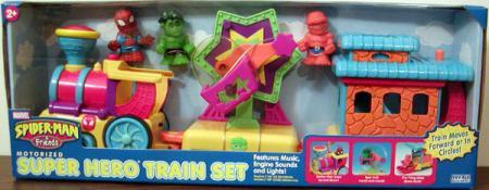 Motorized Super Hero Train Set