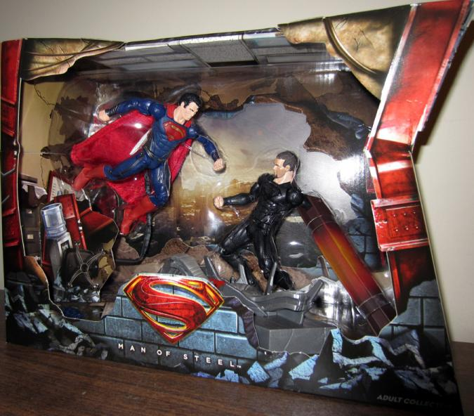 Superman vs General Zod Movie Masters action figures