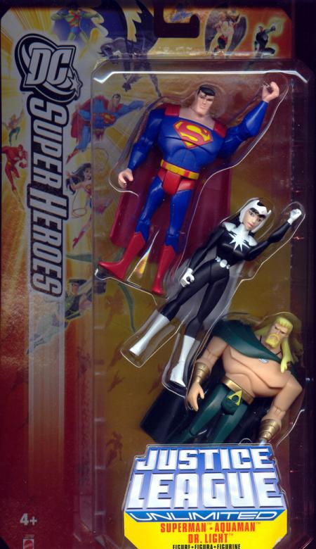 Superman, Aquaman Dr Light 3-Pack DC SuperHeroes
