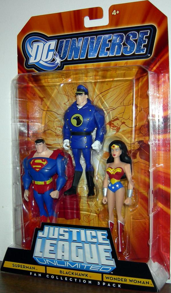 Superman, Blackhawk Wonder Woman 3-Pack