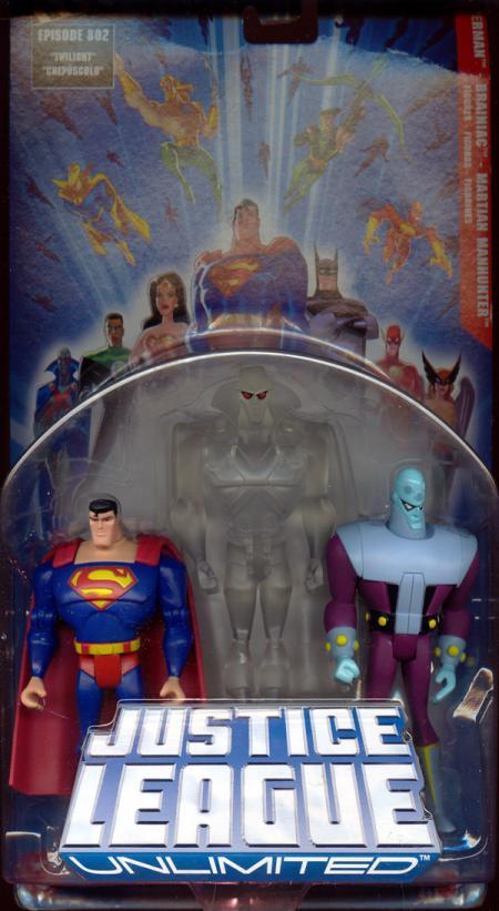 Superman, Brainiac Martian Manhunter 3-Pack Justice League Unlimited