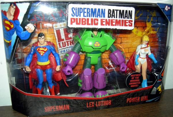 Superman, Lex Luthor Power Girl Superman Batman Public Enemies