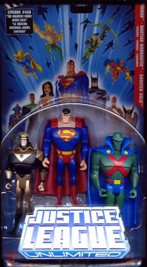 Superman, Martian Manhunter Booster Gold 3-Pack Justice League Unlimited