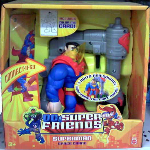 Superman Space Crane Figure Vehicle DC Super Friends